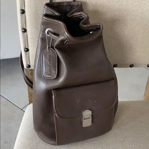 EUC Coach brown leather backpack
